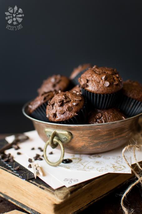 Шоколадово бананови мъфини