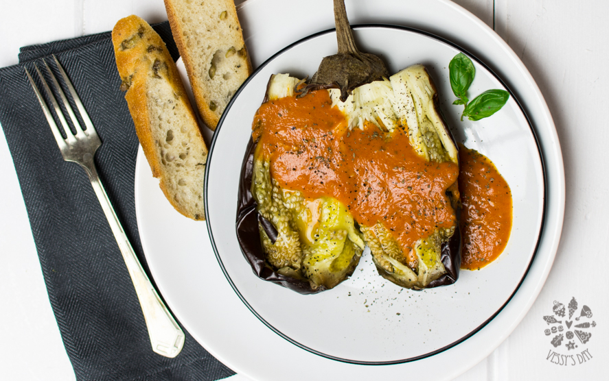 Печен патладжан с доматен сос