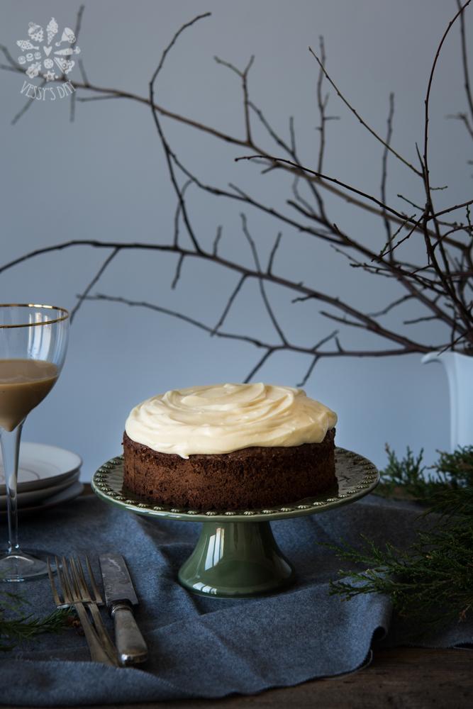 Шоколадова торта с кестени