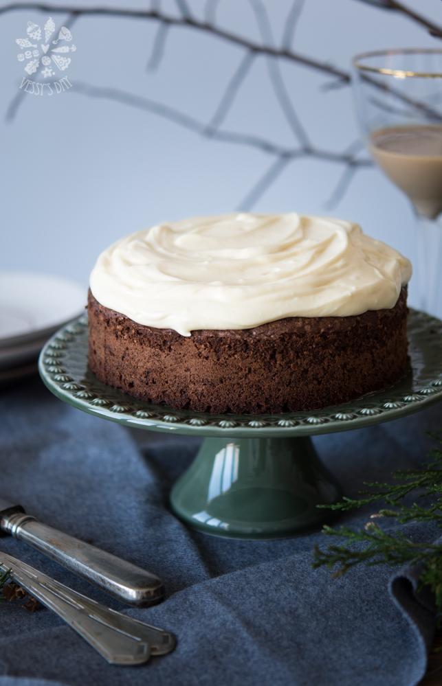 Шоколадова торта с кестени (без глутен)
