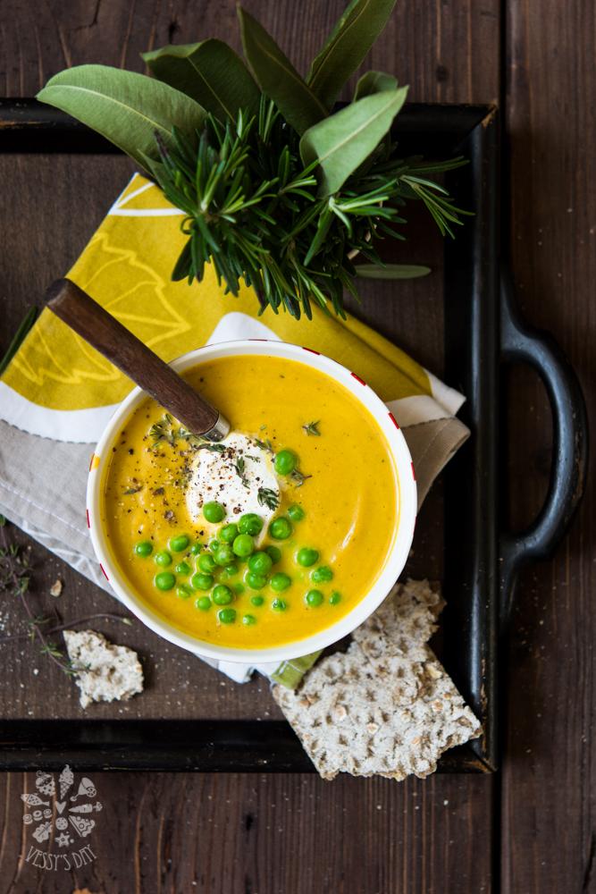 Крем супа от грах и моркови