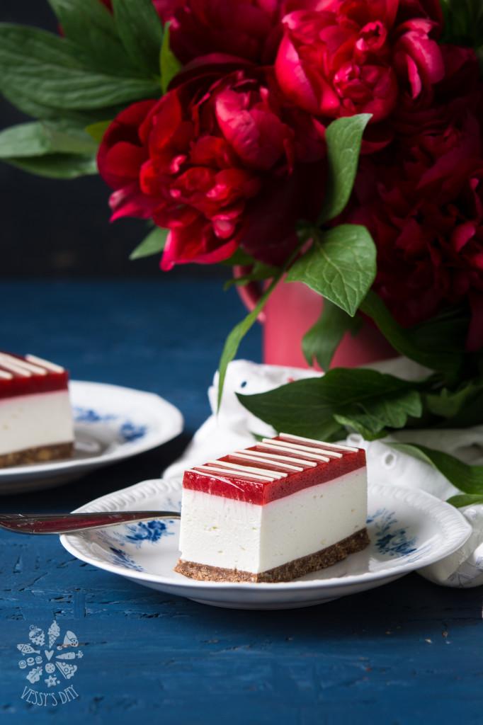 Чийзкейк с ягоди (без печене)