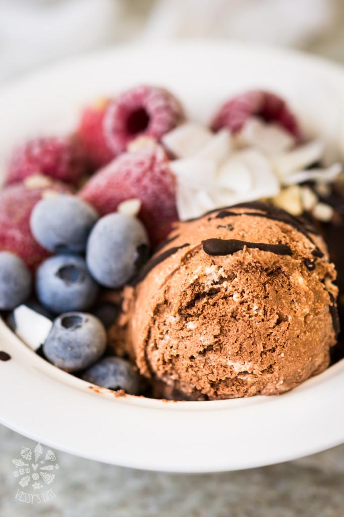 Здравословен шоколадов сладолед