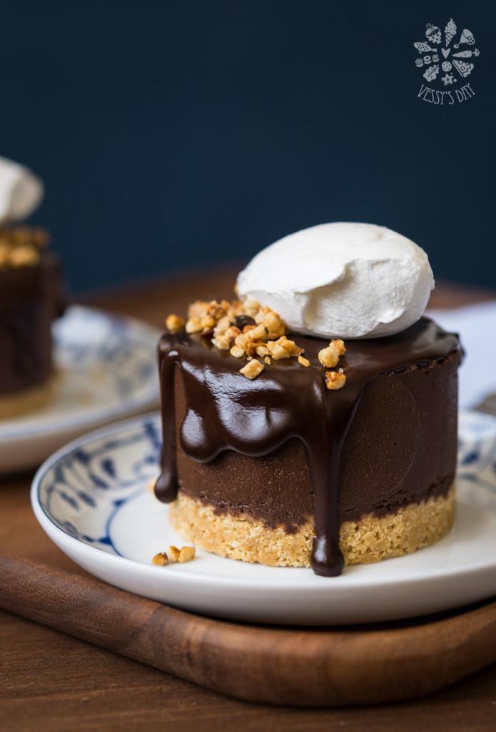 Двойно шоколадови тортички с кестени
