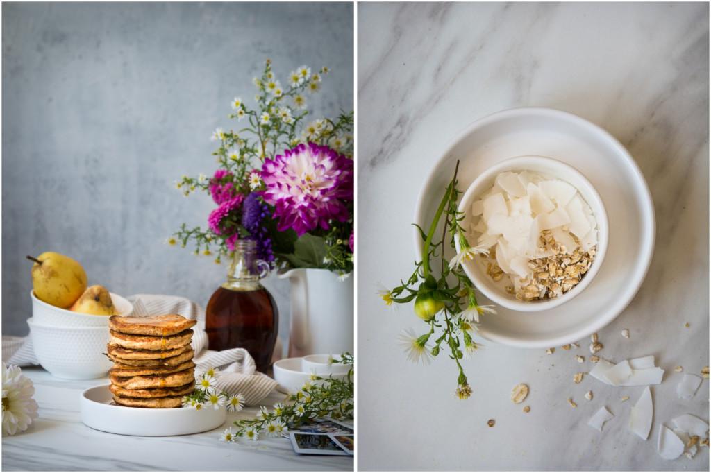 Healthy oat banana pancakes - Copy